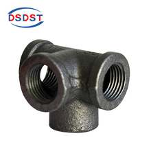 Malleable iron Equal Side Outlet Tees Elbows Banded BS Standard Thread Female Connector Hardware Pipe Fittings