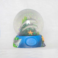 Cheap Price Promotional Gift Dolphin Glass Snow Ball