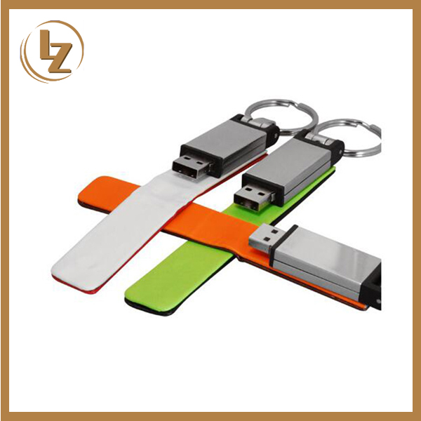Top Selling Leather Keychains USB Flash Drive
