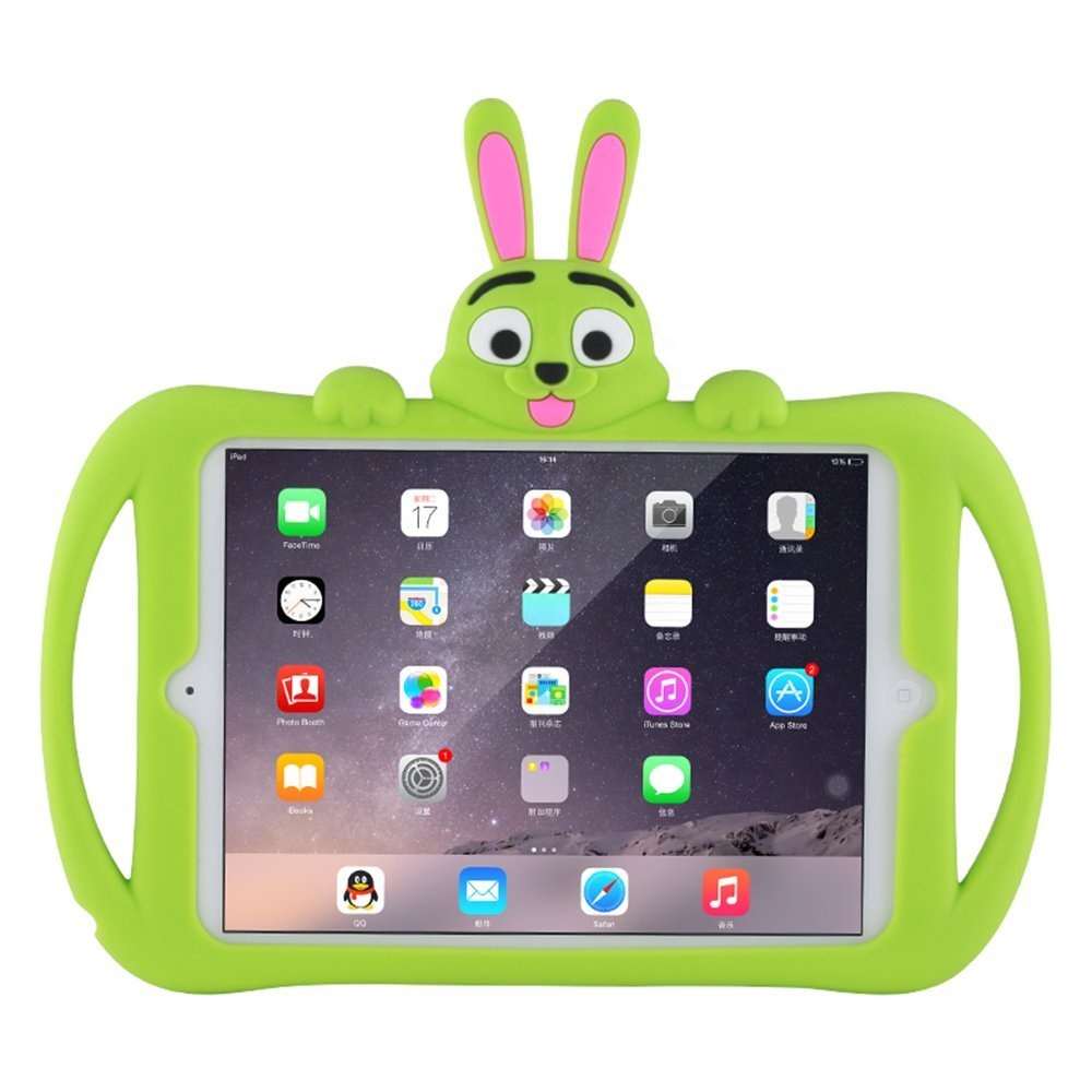 The Cute Rabbit Protective Silicone Case For <strong>Ipad</strong> 234 , Shockproof 10 Tablet Cover For <strong>Ipad</strong> 234 With Handles For Kids