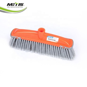 Professional Houseware Fine Floor PET bristle broom Sweep Plastic Broom Head with TPR cover