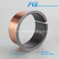 Dry sliding teflon linear bearing,split flanged sleeve bearing,Oil lubrication wrapped bronze bushing supplier