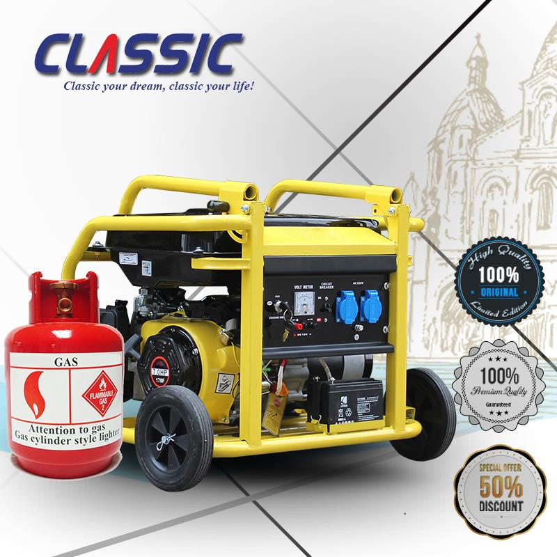 CLASSIC(CHINA) Natural Gas Powered Portable Generators Home Use, Whole House Generators Natural Gas, Natural Gas Generator