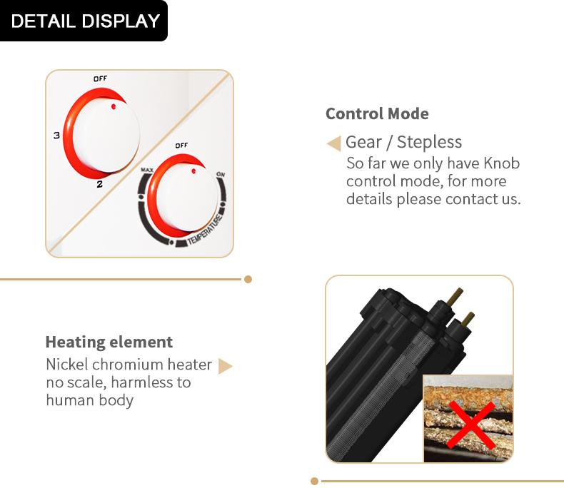 220 V-240 V 3.5-5.5kW IPX4 Knob Controle