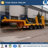 Titan gooseneck heavy machines hauler trailer for sale