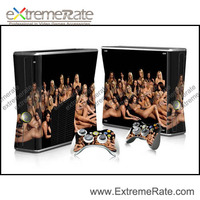 Sexy ladies protective skin sticker for Xbox 360 slim console
