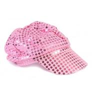 60s 70s disco dance costume pink sequin party hat