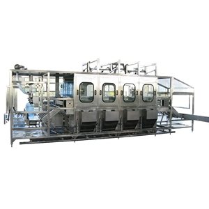 Turnkey project 5 gallon bottled water inside outside washing production line / drinking mineral water filling capping machine