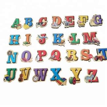 Kids Cheap 3d Magnetic Wooden Letters