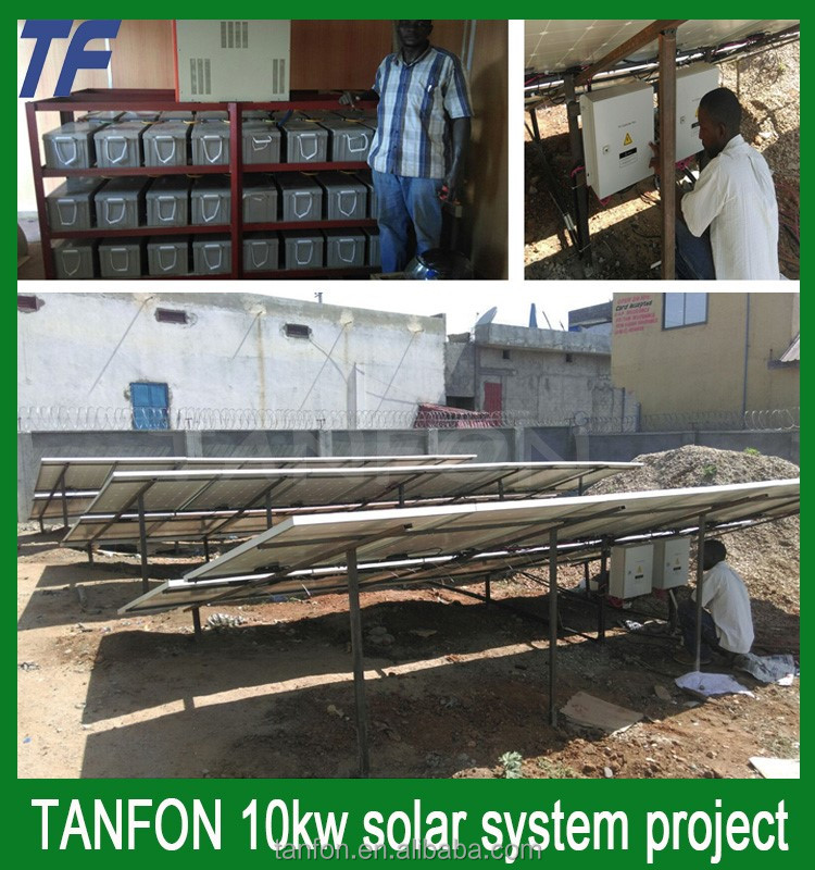off grid 10000w solar power system for home / 10KW solar panel system for air conditioning use