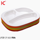 Food grade Cateen Dinnerware Portion Control Plate 3 compartment Melamine Plastic Meal Measure Plates