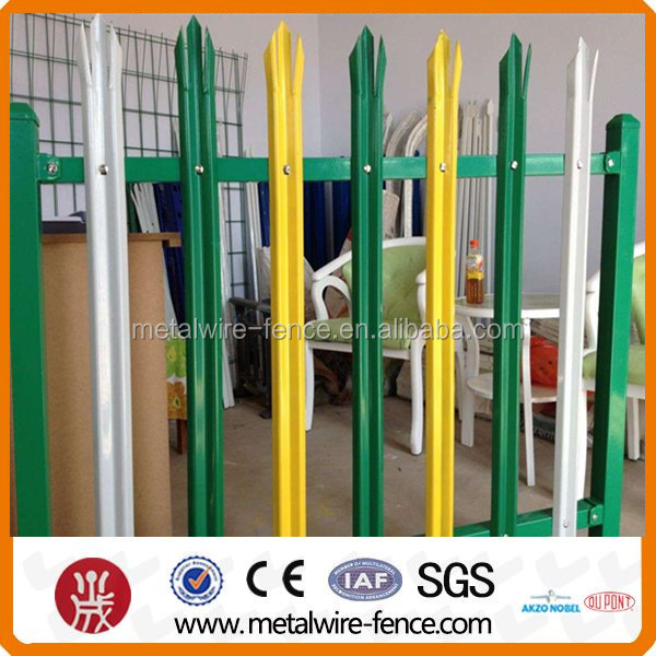 Green Color Palisade Gate Factory