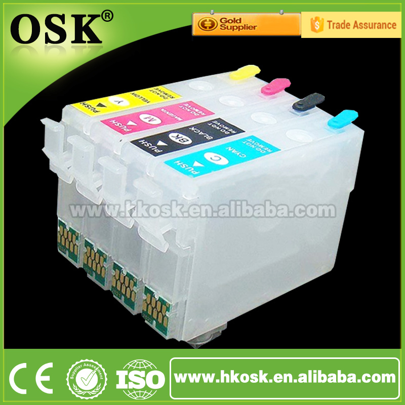 4 Color Cartridge For Epson Wf-2548 Wf-2631 Wf-2651 Refill Ink ...