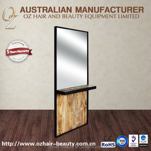 Industry Style Workstation Barber Shop Mirror Station Single-sided Wooden Mirror