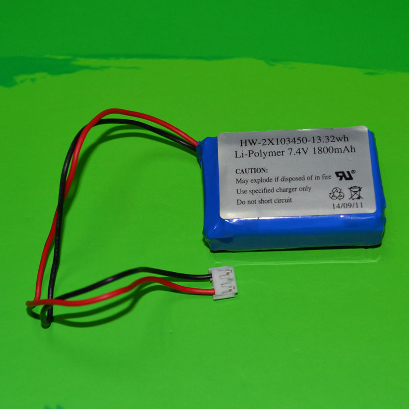Shenzhen Supplier IEC62133 UN38.3 UL Approved 7.4v rechargeable lithium polymer battery / lipo battery 7.4v 1800mah 103450 2S1P