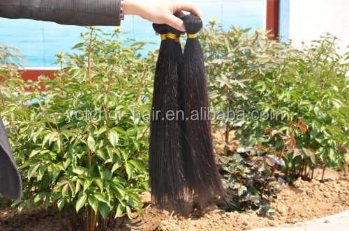 Natural Black Wave Remy Virgin Indian Human Hair Extension/Softy India Human Hair Machine Weft/Human Hair Weaving