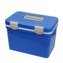 12L plastic foam green cooler box with handle in medical to cool