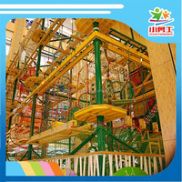 high level ropes course, obstacle course equipment, adventure playground