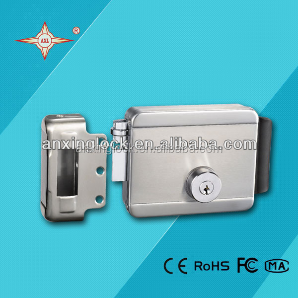 electric rim lock 304 stainless steel lock , lock for door