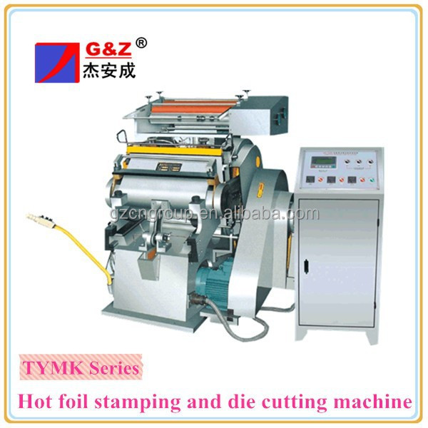 Manual type platen hot stamping foil die cutter for carton box