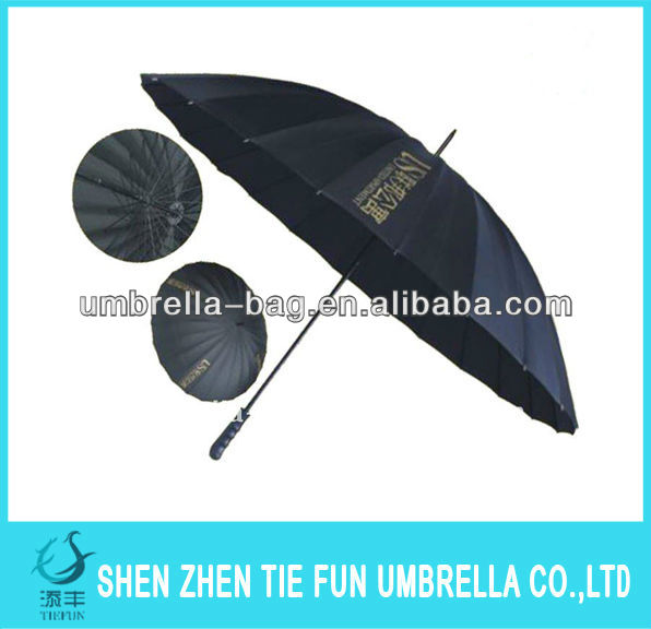 customized logo 30 inch auto open golf umbrella with plastic handle