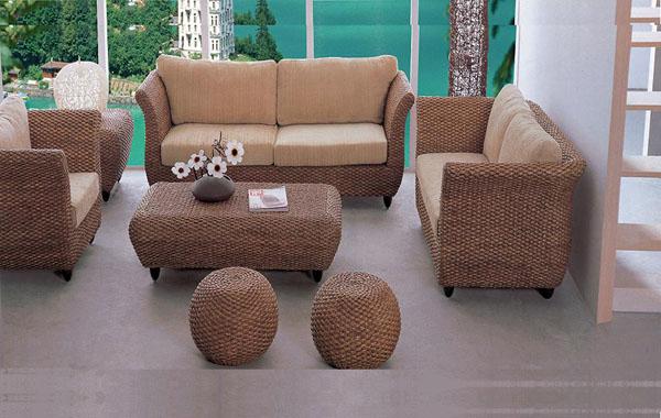 New Indoor Rattan Sofa Set With