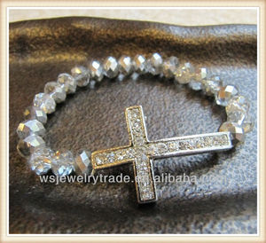 Beautiful Cross Ring Bracelet Clear Crystal Cross Bracelet Wholesale