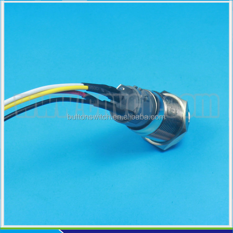 1950 12/16/25/28/30/19mm led push button switch with different connector
