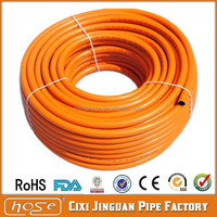 CE!!! orange color high quality LPG PVC hose best quality gas PVC hose OEM hose Thermosetting PVC of LPG as customer required