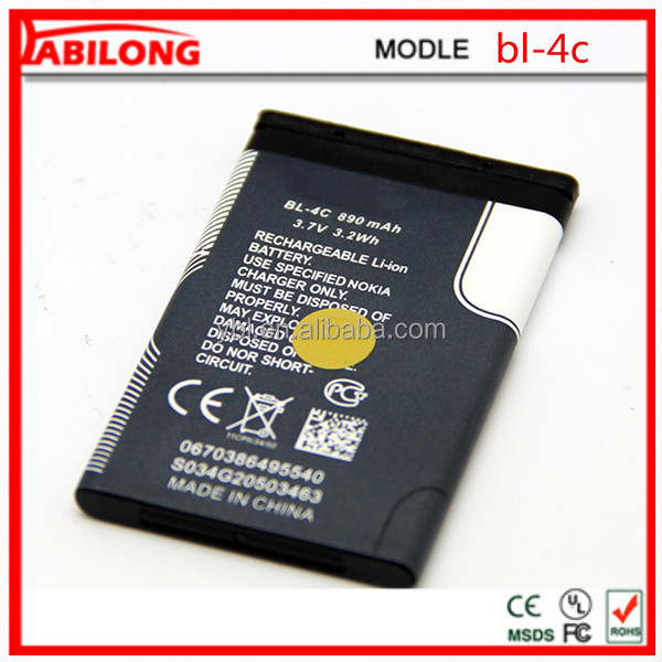 bl- 4c high quality battery for nokia Cellular 3500 Classic 6066 6088 6100 6101 6102i 6103