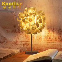High Quality Wooden Sheet And Plastic DIY Bedside Table Lamp For Hotel And Home