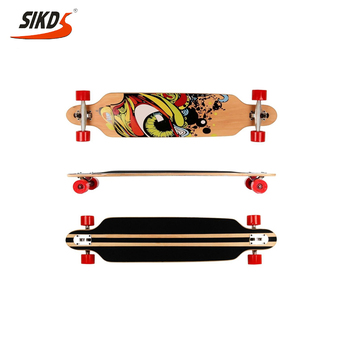 free style 4 wheels longboard with maple longboard deck OEM long board
