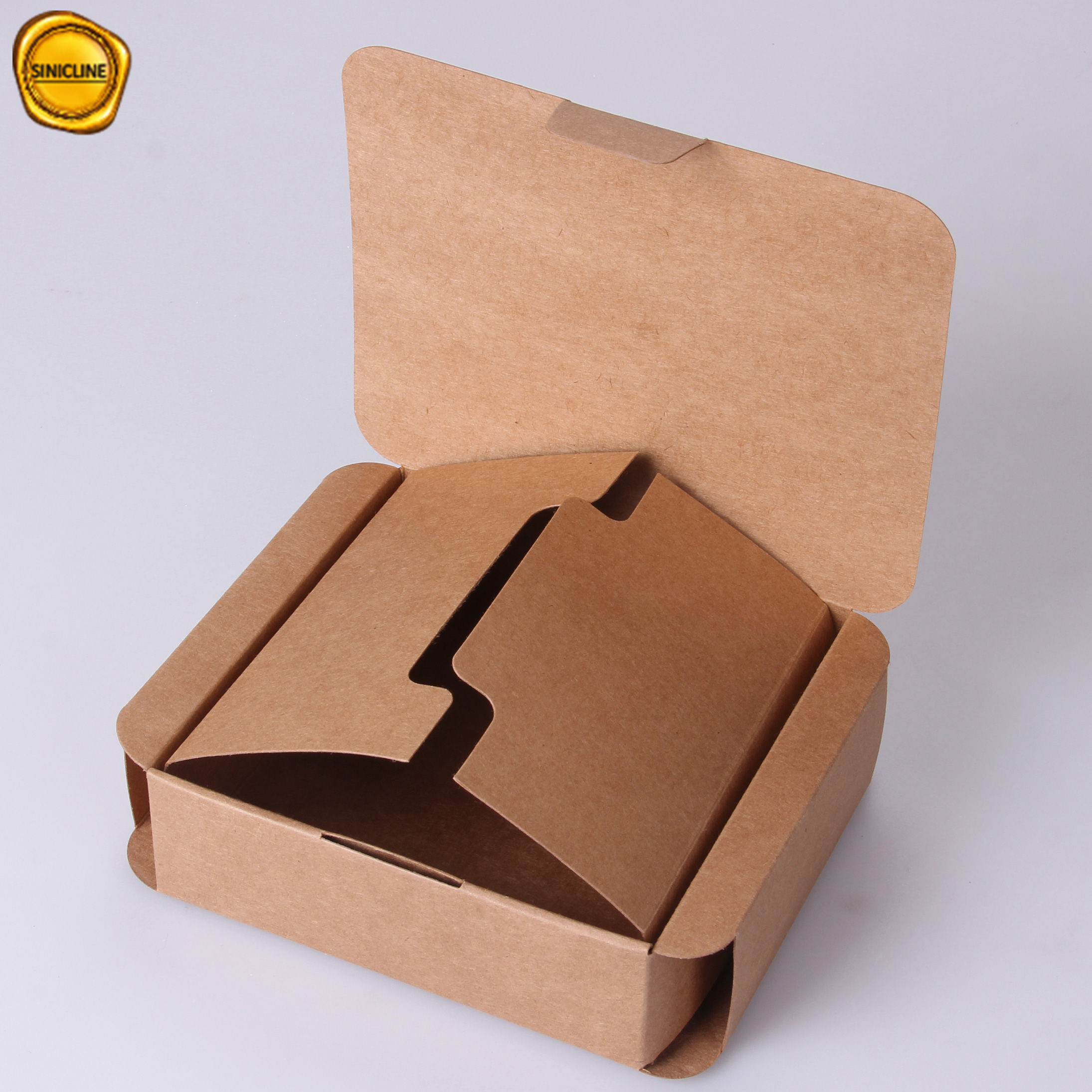 Sinicline Custom Kraft Paper Box Small Cardboard Packaging For Gifts