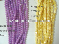Wholsale high quality dye purple jade 8mm round beads jewelry