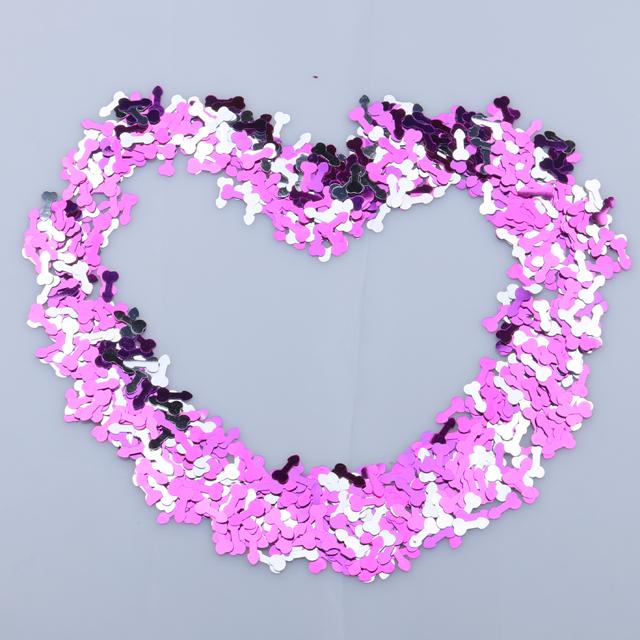 Festa de despedida de prata e roxo brilhante pênis grosso pênis glitter confetti confetti polvilhe decorações do partido de galinha