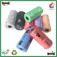 Dog products pet grooming HDPE / LDPE paws printing waste bags