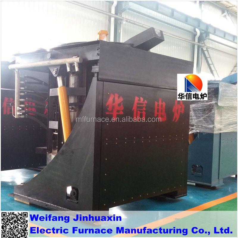 Hot Sale 2T Medium Frequency Hydraulic Tilting Electric Furnace from China