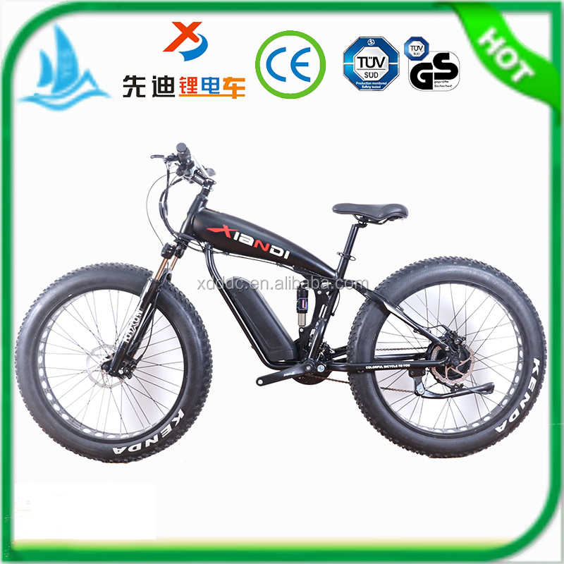 Factory selling 26 inch fat tire full suspension 48v 500w 750w 1000w 1500w 2000w electric bike bicycle with max speed 60km/h