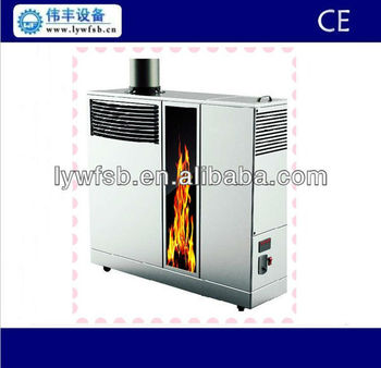 New Style Hot Blast Stove With Wood Pellet White Indoor
