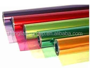 color cellulose film with different colors for fireworks and foodstuff
