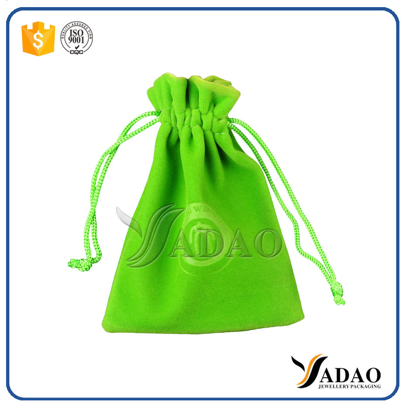 Cheap Promotional bags satin jewelry pouch chinese fabric drawstring gift pouches drawstring bags