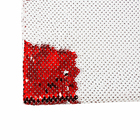 2019 Custom Printed Sublimation Sequins Fabric Colorful White and Red Sequin Fabric for Sublimation Printing