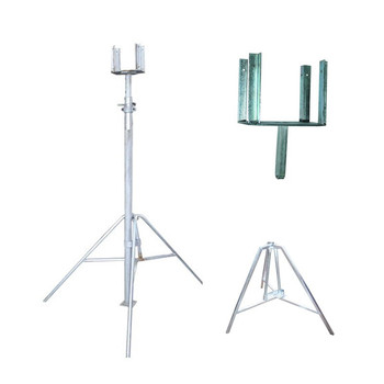 Adjustable Galvanised Steel Prop With Shoring Post Jack Accessories Tripod  Fork Head For Formwork H 20