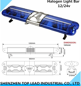 High Quality Electronice Police Halogen Revolving Roof Light Bar ...