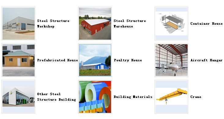 Large span steel structure building prefabricated hangar steel warehouse