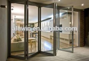 interior de aluminio de cristal puertas plegadizas