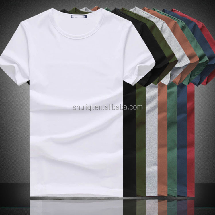Wholesale Cheap Plain White T Shirts Different Solid Color