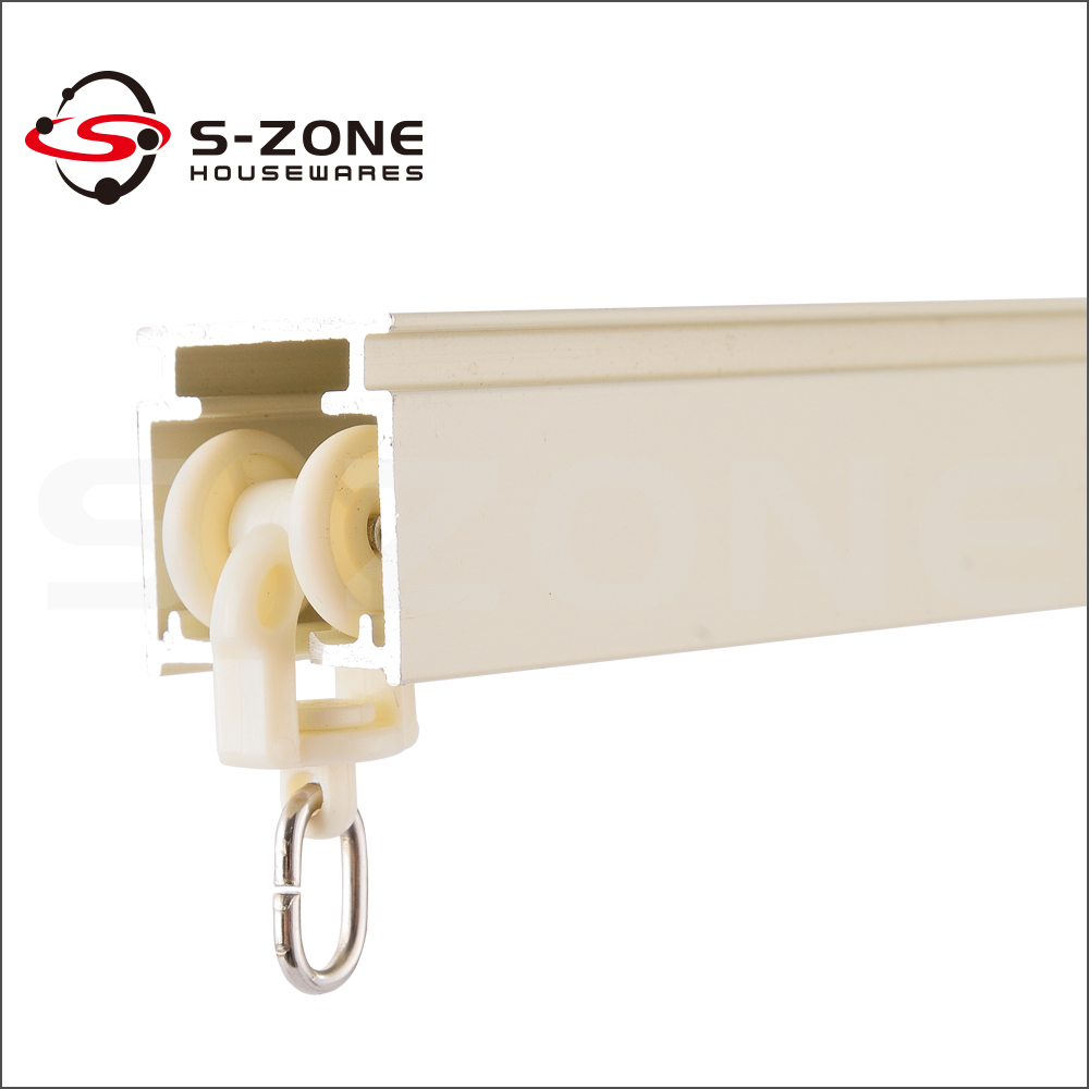 Ceiling Mounted Metal Curtain Rails Aluminum Linear Rail - Buy ...