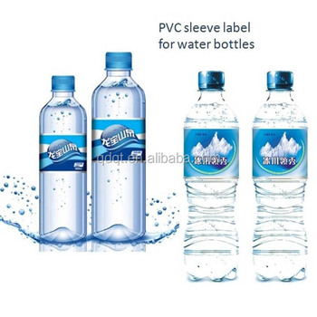 Customized plastic mineral water bottle label buy water for Buy water bottle labels