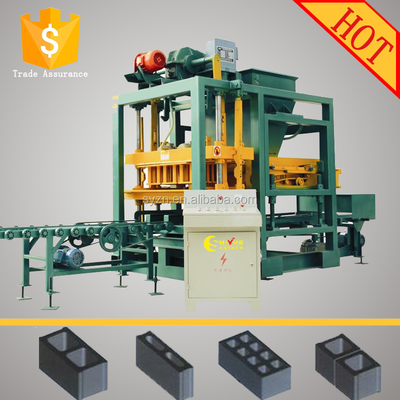 QTJ4-25 automatic cement block moulding making machine for paving stone in pakistan